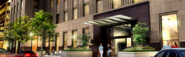 detail photo of the entrance at 88 Scott Residences